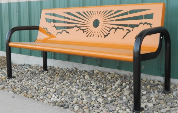 Rolled Round Side Bench (Customizable)