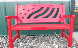 Resized Red bench