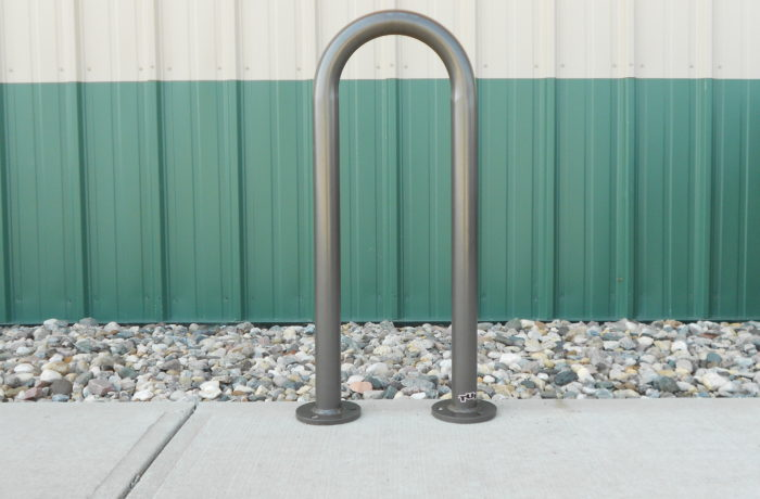 Single Loop Bollard Bike Rack