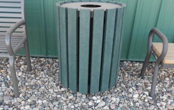 Heavy Duty Slat Round Trash Can