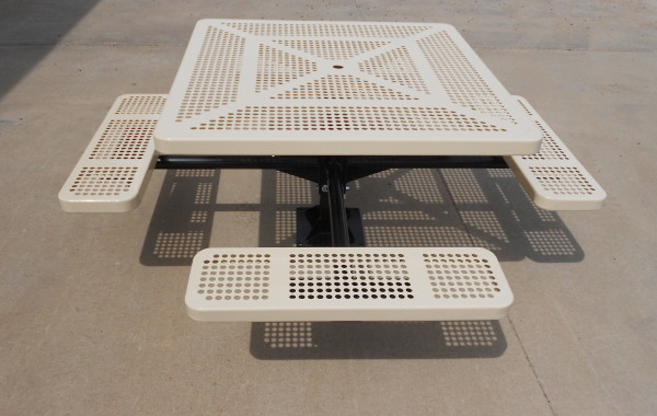 The Square Pedestal Picnic Table