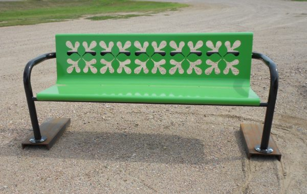 Rolled Pedestal Bench (customizable)